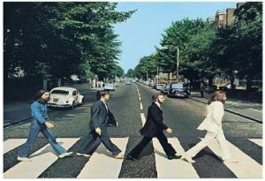 Beatles on zebra crossing