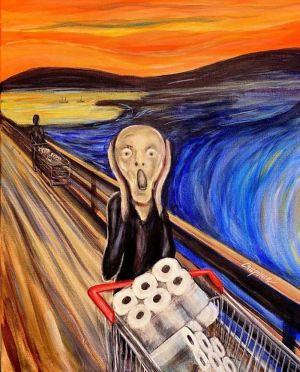 The Scream - with toilet rolls