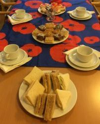 Poppy Day Tea table