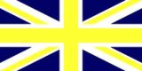 union jack yellow+blue-flag